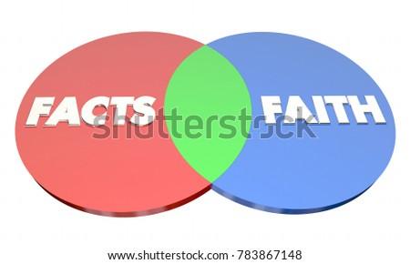 Facts Vs Faith Venn Diagram Religion Stock Illustration 783867148