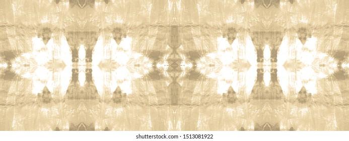 Faded Tie Dye. Seamless Geo Ethnic Art. Soft Grey Design. Shibori Pattern. Tie Dye Elements. Taupe Ikat Shape Print. Nude Wallpaper. Ecru Hippie Style. Light Brown Template.