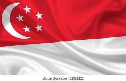 Fahne Flagge Singapur