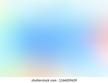 Faint pink lights on blue empty background. Fantasy ombre blurred pattern. Wonderful clear pure sky defocused texture. Pale blank template. Trendy painting abstract illustration.