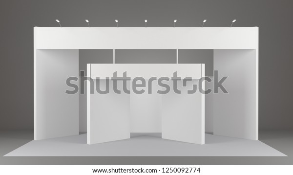 Fair Trade Booth Mockup Booth Template Stock Illustration 1250092774