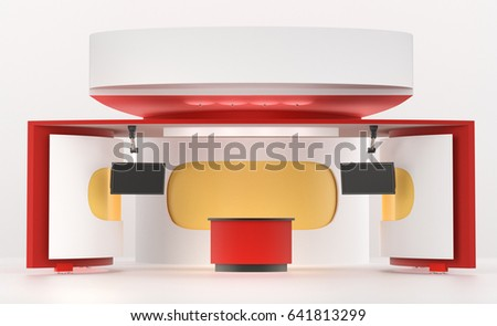 Trade Exhibition Stand Mockup Free : Fair trade exhibition stand mockup 3 d stock illustration royalty