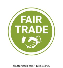 Fair trade sign and label