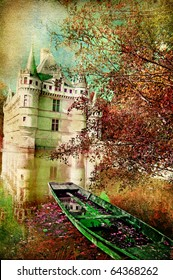 fairy castle - artwork in painting style