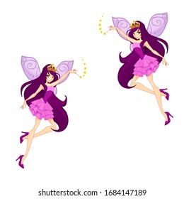 fairy flying with a magic wand