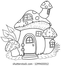 fairy house cartoon coloring page 260nw