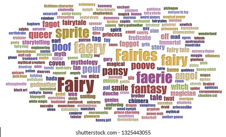 fairy tag cloud neatly isolated 260nw