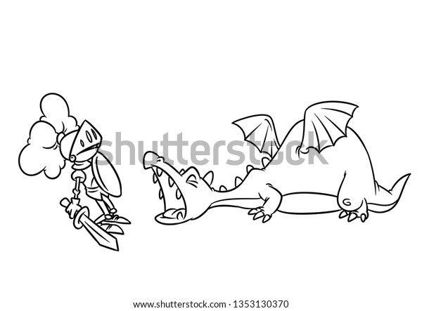 Fairy Tale Aggression Dragon Medieval Knight ...