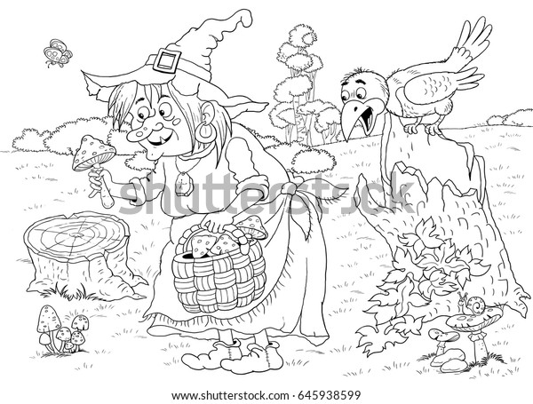 26+ Cute Crow Coloring Page