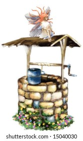 fairy/angel on a wishing well (search the word nikos for more)