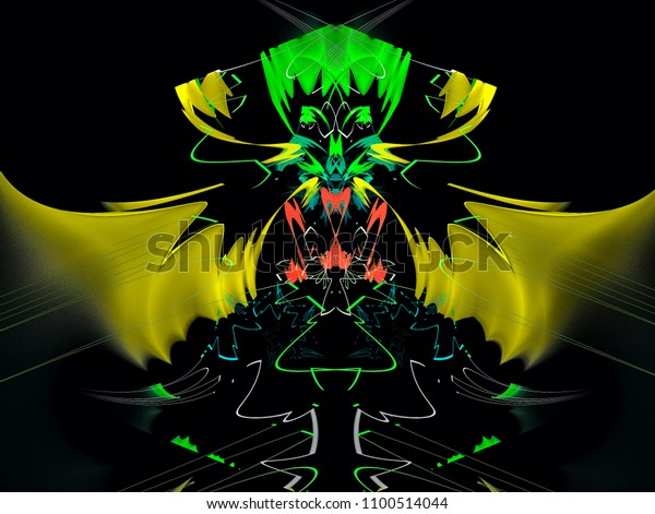 Fairytale Character Abstract Magic Energy Multicolored Stock