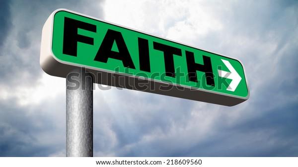 Faith Trust Pray God Follow Jesus Stock Illustration 218609560