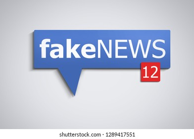 fake news speech bubble