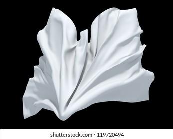 falling dynamic white cloth element