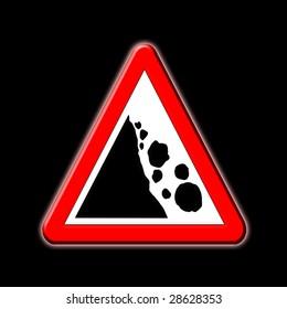 Falling or fallen rocks