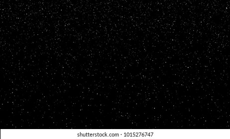 Falling snow animation loop background. Animation of falling snow on black background. Loop footage