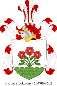 Family coat of arms of the Roosevelt. Illustration