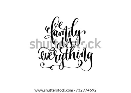 Royalty Free Stock Illustration Of Family Everything Hand Written