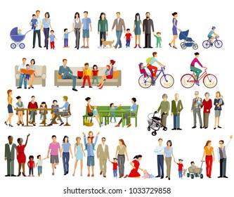 Family life generation, illustration