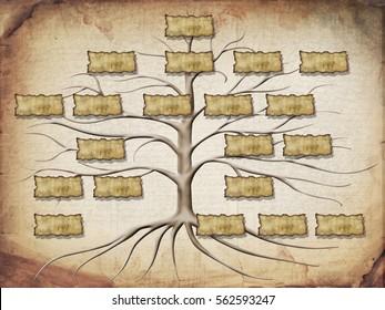 family tree illustration for your design