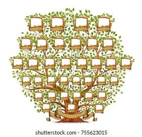 Paper craft custom diy family tree instant download | etsy.