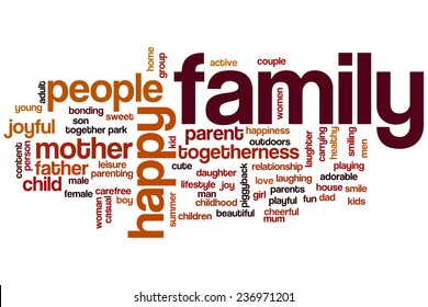 Family word cloud concept