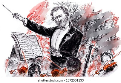 The famous Italian composer Giuseppe Fortunino Francesco Verdi. Priest and virtuoso violinist.