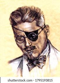 Famous Writers Series. James Joyce - Irish writer and poet, representative of modernism