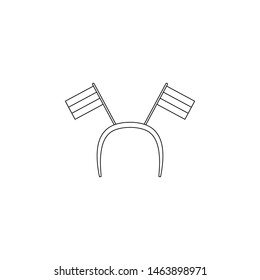 fan hair band with ears icon. Element of russian fan atributs for mobile concept and web apps icon. Outline, thin line icon for website design and development, app development