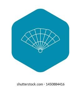Fan icon. Outline illustration of fan icon for web