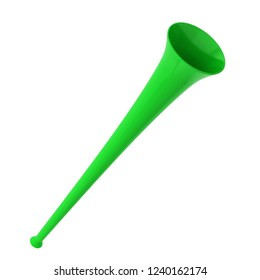Fan vuvuzela trumpet. 3d illustration isolated on white background