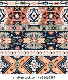 Fancy abstract geometric pattern in tribal style