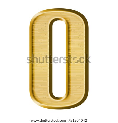 Fancy Gold Metal Uppercase Capital Letter Stock Illustration