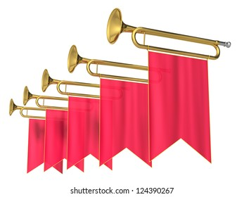 fanfare on a white background