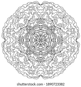 Fantastic flower coloring book for children and adults. Stylish ornaments. Dood and Zen, meditation, relaxation.