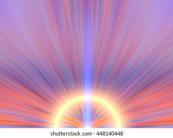 Fantastic light in the form of an abstract flower. Variety of color. Background for text.