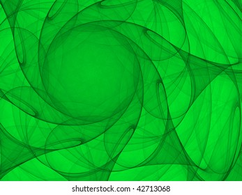 Fantasy abstract graphics created with curved lines converging to a circle.