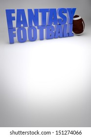 fantasy american football game background with space