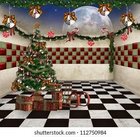 Fantasy christmas room