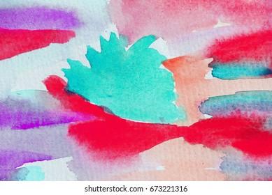 Fantasy clouds in watercolor