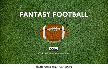 Fantasy Football Ball Rugby Game Concept