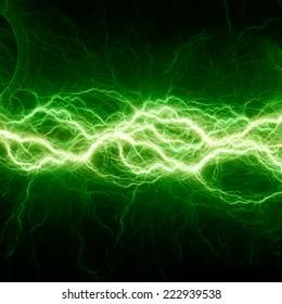 Fantasy green lightning