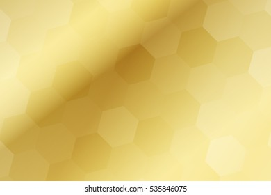 fantasy hexagons on a gold color background. raster. ideas for your business, printing, design presentations.