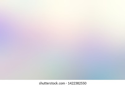Fantasy hologram abstract pattern. Fairy tale light defocused background. Attractive interactive transition. Wonderful natural colors. White blue pink green lilac subtle illustration.