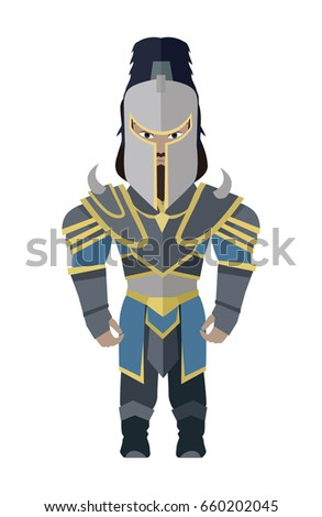 Fantasy knight character in