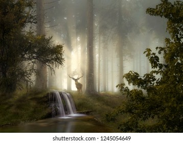 Fantasy Landscape, Compositing