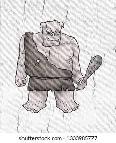 fantasy ogre illustration