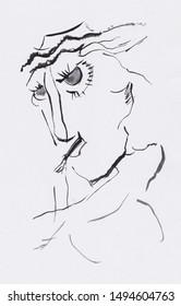 fantasy portrait of strange man