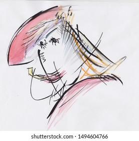fantasy portrait of strange woman