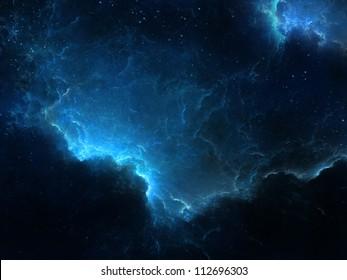 Fantasy space scene